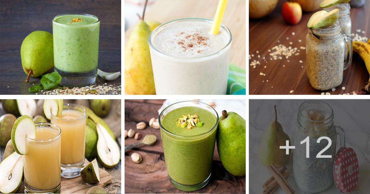 Aprende cómo hacer jugo de pera, chía y avena para adelgazar